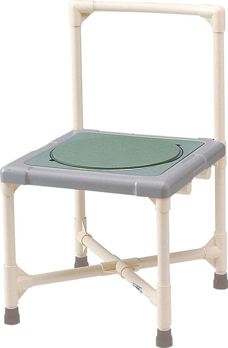 シャワーいす 背もたれ型 ターンテーブルタイプ(大) CAT-0301 H75(40)×W44×D44cm 質量:5.9kg [※代引不可]