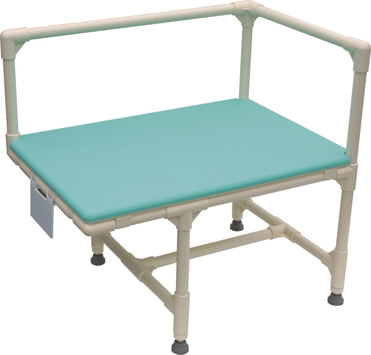 入浴用いす/入浴台(右用)浴そう固定金具Bタイプ アジャスター付 CAG-6 H67(40)×W70×D48cm 質量:10.0kg ブルー[※代引不可]
