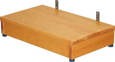 木製ステップ台 1段 TST-04B H15~13×W60×D35cm 質量:4.3kg [※代引不可]