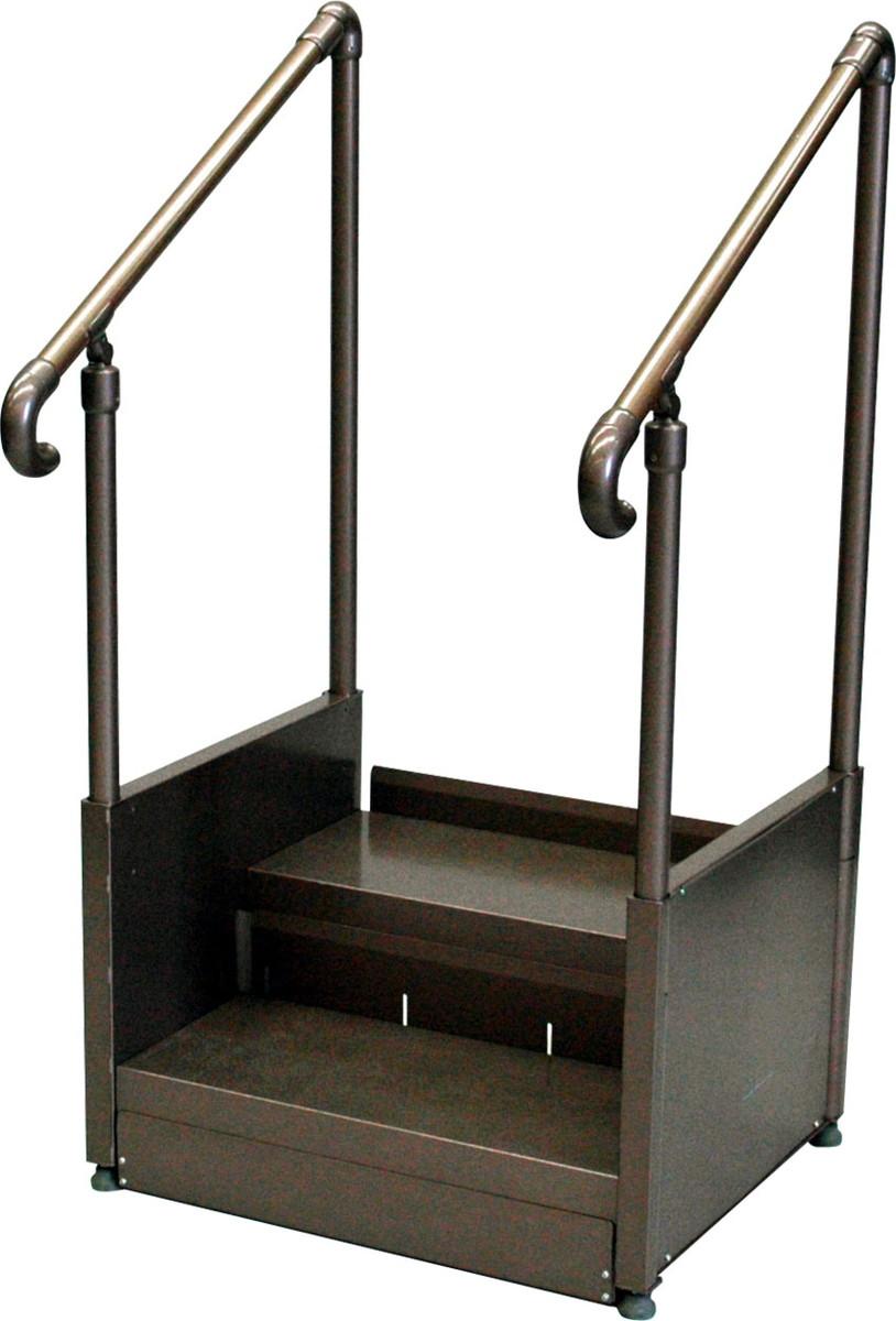 手すり付ステップ台 CHD-1A H105~128×W67.7×D56.4cm 質量:29.5kg [※代引不可]