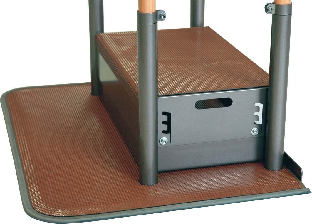 あがりかまち用たちあっぷ ステップ台 CKE-B H12~18(2cmピッチ4段階)×W50×D30cm 質量:6.9kg [※代引不可]