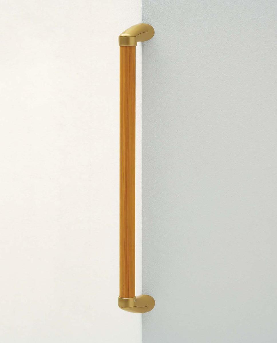 φ35イレクター製 廊下・居間まわりオーダー手すりコーナー CGD-12-BR H600mm フレーム:木目ブラウン ジョイント:ゴールド[※代引不可]