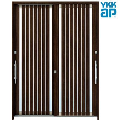 YKKAP 玄関引戸 れん樹 6尺2枚建(H2230)デザインC06 複層ガラス仕様 ランマ通し 全7柄