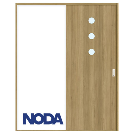 【NODA/ノダ】BINOIE(ビノイエ) 片引き戸セット 【D-16型】室内ドア 内装ドア 引戸(戸車) 採光タイプ 固定枠