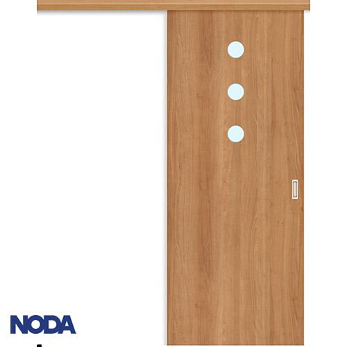 【NODA/ノダ】BINOIE(ビノイエ) アウトセット上吊り引き戸セット 【D-16型】室内ドア 内装ドア 片引戸 採光タイプ