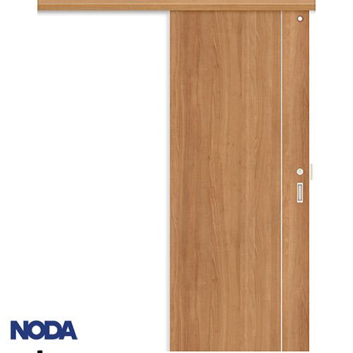 【NODA/ノダ】BINOIE(ビノイエ) アウトセット上吊り引き戸セット(表示錠・壁付鎌錠受け付) 【D-37型】室内ドア 内装ドア 片引戸 明かり窓付 トイレドア