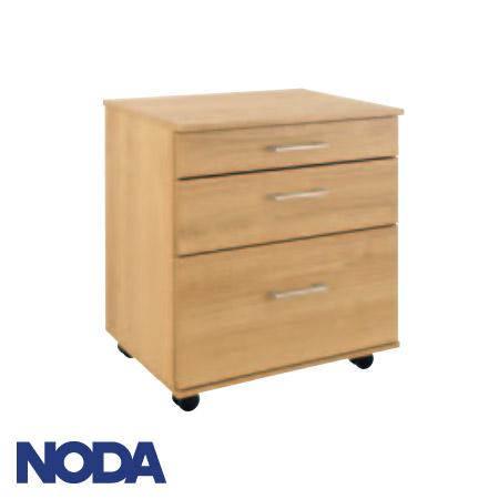 【NODA/ノダ】 壁厚収納 個人向け収納チェスト(キャスター付き) 選べる7柄