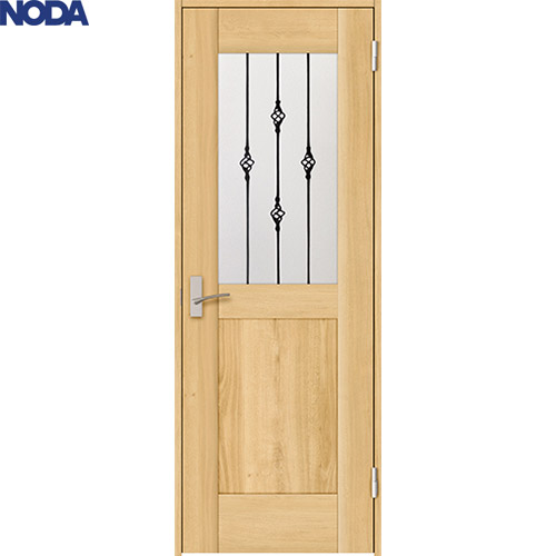 【NODA/ノダ】BINOIE/ビノイエ 片開きドアセット 【B-68型 固定枠/ケーシング(見切)枠】 室内ドア 内装ドア 丁番ドア シングルドア 扉 透光デザイン