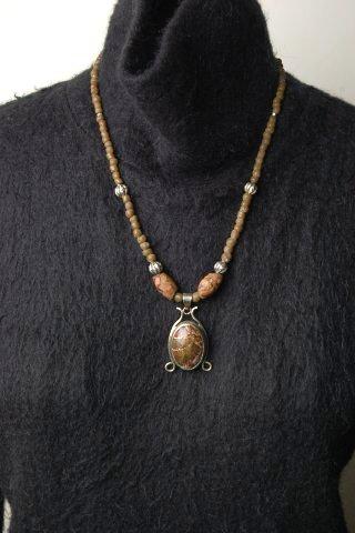 インドネシア 天然石シルバーペンダント とんぼ玉レプリカビーズネックレスアクセサリーアジアンプレゼントYDKG f送料無料レディースwTlkXiPZuO