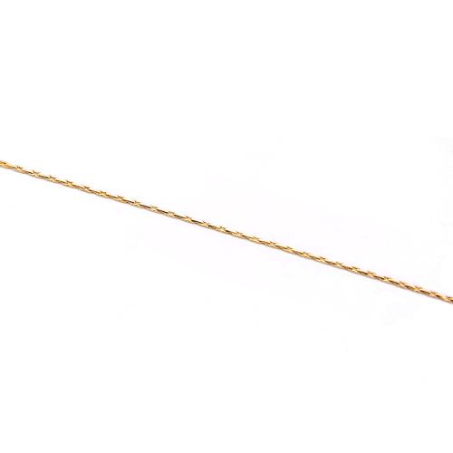 セットアップ 安心高品質な国内メッキ商品 ハイクオリティ 0.75mm幅エレガンス スエッジ チェーン1m単位の計り売り J 国内メッキ ゴールド