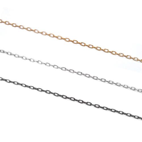 2.3mm幅小判 あずき ゴールドロジウム黒ニッケル [並行輸入品] 定番スタイル チェーン1m単位の計り売り