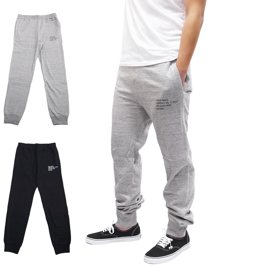 HUF ハフ MIL-SPEC CADET PANT [2色](パンツ スウェット メンズ グレー ブラック 黒 ) 【送料無料】