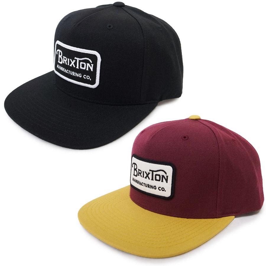 BRIXTON ブリクストン GRADE SNAPBACK [2色](ベースボールキャップ ロゴ ワッペン アジャスター スナップバック ハット HAT 帽子 メンズ )