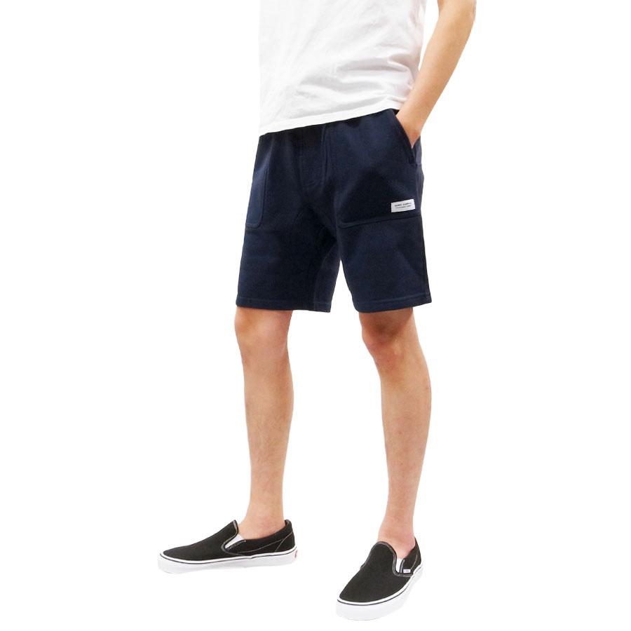 BANKS バンクス BIG BEAR SWEAT SHORT PANT [HEATHER DIRTY DENIM](メンズ ショートパンツ ショーツ ハーフパンツ スウェット スエット 街履き スケート ネイビー)【送料無料】
