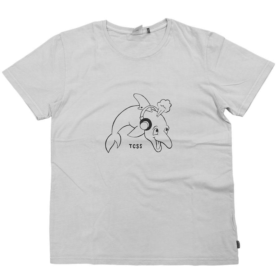 若い人たちから絶大な支持を得ているTCSSの大人気Tシャツ TCSS ティーシーエスエスDOLFIN 送料無料激安祭 S TEE GREY 半袖Tシャツ 訳あり ストリート カットソー スケート ユニセックス レディーズ SB グレー メンズ ネコポス