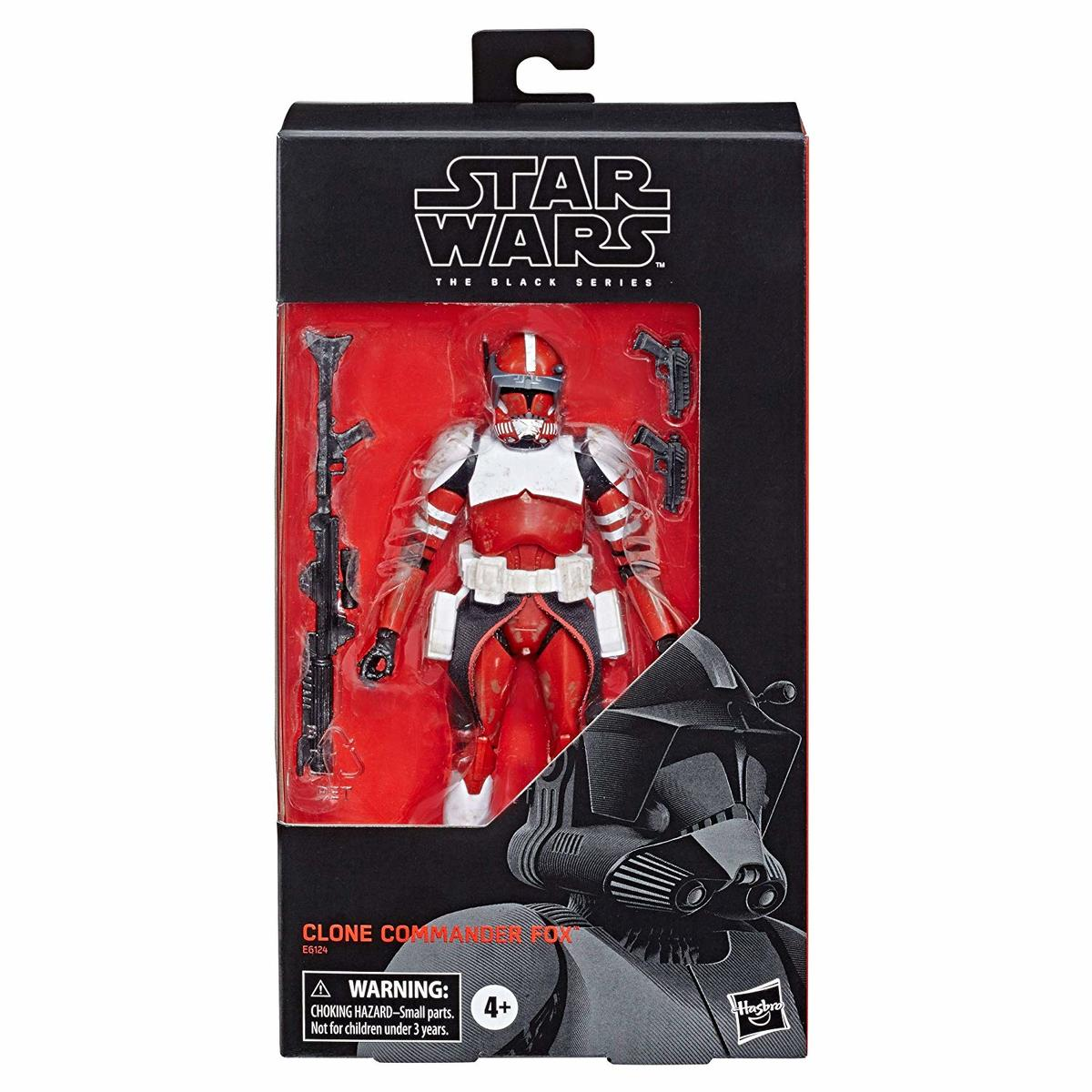 "Hasbro Star Wars The Black Series 6/"" inch Clone Commander Fox Action Figure"
