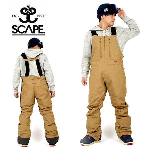 得割20 送料無料 スノーボードウェア SCAPE エスケープ BIB PANTS メンズ パンツ ビブパンツ スノボ スノーボード スノーウェア ボトムス