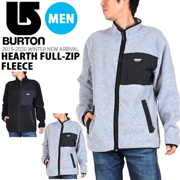 送料無料 長袖 フリース バートン BURTON Hearth Full-Zip Fleece メンズ フルジップ フリース フーディー ジャケット スノボ スノーボード スキー SNOWBOARD 20%off