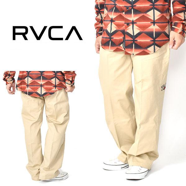 送料無料 ワークパンツ RVCA ルーカ THE WEEKEND ROSE PAN ベージュ ワークパンツ チノ イージーパンツ ロングパンツ メンズ ストレート サーフ 25 offJKTFcl1