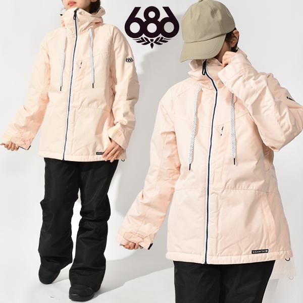 送料無料 スノーボードウェア 686 SIX EIGHT SIX シックスエイトシックス Athena Jacket レディース ジャケット ピンク スノボ スノーボード スノーウェア 得割20