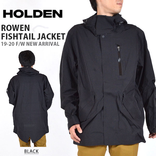 送料無料 スノーボードウェア HOLDEN ホールデン MS M-51 3-LAYER FISHTAIL JACKET スリーレイヤー フィッシュテール ジャケット メンズ ブラック 黒 ジャケット スノボ スノーボード スノーウェア 得割20