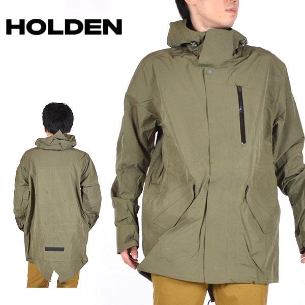 送料無料 スノーボードウェア HOLDEN ホールデン MS M-51 3-LAYER FISHTAIL JACKET スリーレイヤー フィッシュテール ジャケット メンズ グリーン 緑 ジャケット スノボ スノーボード スノーウェア 得割20
