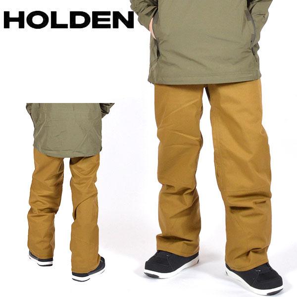 送料無料 スノーボードウェア HOLDEN ホールデン MS STANDARD PANTS メンズ パンツ BROWN ブラウン スノボ スノーボード ボトムス メンズ 得割20