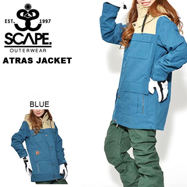 送料無料 スノーボードウェア SCAPE エスケープ ATRAS JACKET レディース ジャケット スノボ スノーボード スノーウェア アトラスジャケット 25%off