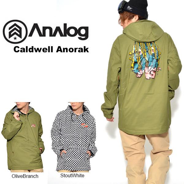 送料無料 スノーボードウェア アナログ Analog Caldwell Anorak メンズ ジャケット アノラック スノボ スノーボード スノーボードウエア スキー 35%off