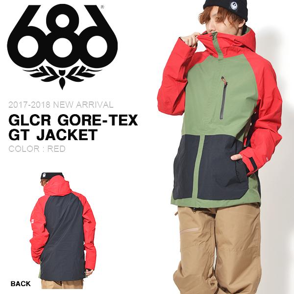 送料無料 スノーボードウェア 686 SIX EIGHT SIX シックスエイトシックス GLCR GORE-TEX GT JACKET ゴアテックス メンズ ジャケット スノボ スノーボード スノーウェア 得割25