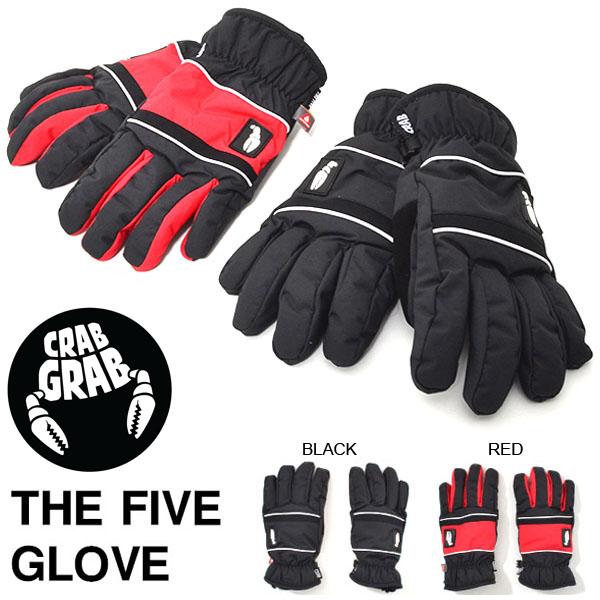 手袋 クラブグラブ CRAB GRAB THE FIVE GLOVE メンズ ザ ファイブ スノーグローブ グローブ スノボ スノーボード スキー ウインタースポーツ 得割25