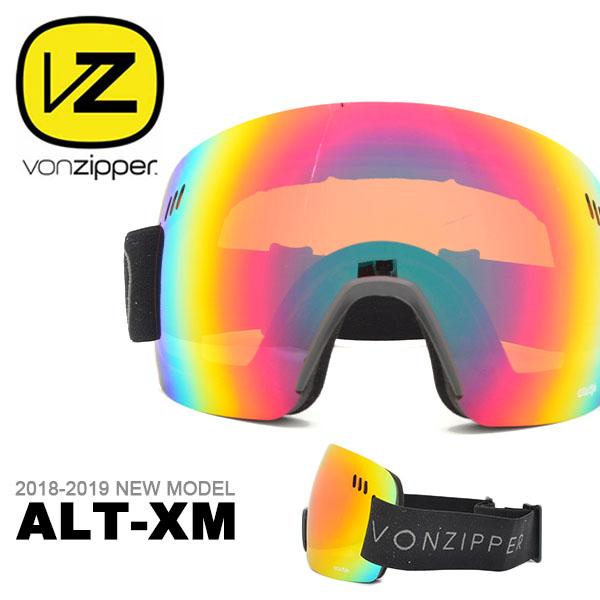 送料無料 スノーゴーグル VONZIPPER ボンジッパー メンズ レディース ALT-XM ジャパンフィット 日本正規品 球面レンズ スノーボード スノボ スキー スノー ゴーグル 35%off