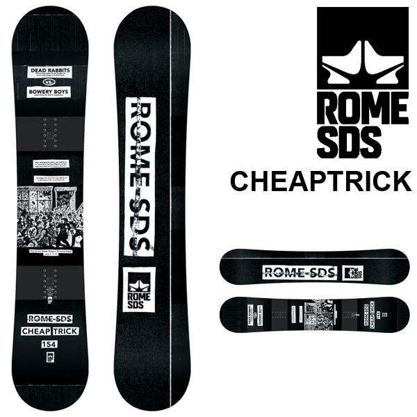 送料無料 スノー ボード 板 ROME SDS ローム CHEAPTRICK メンズ スノーボード スノボ 紳士用 キャンバー フリーラン パーク 149 154 35%off