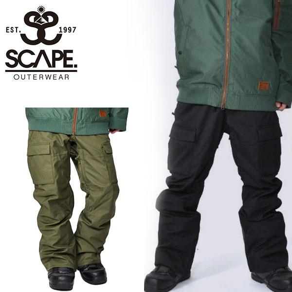 送料無料 スノーボードウェア SCAPE エスケープ STINGRAY PANTS メンズ パンツ スティングレイ スノボ スノーボード スノーウェア ボトムス レギュラーフィット 18/19 25%off