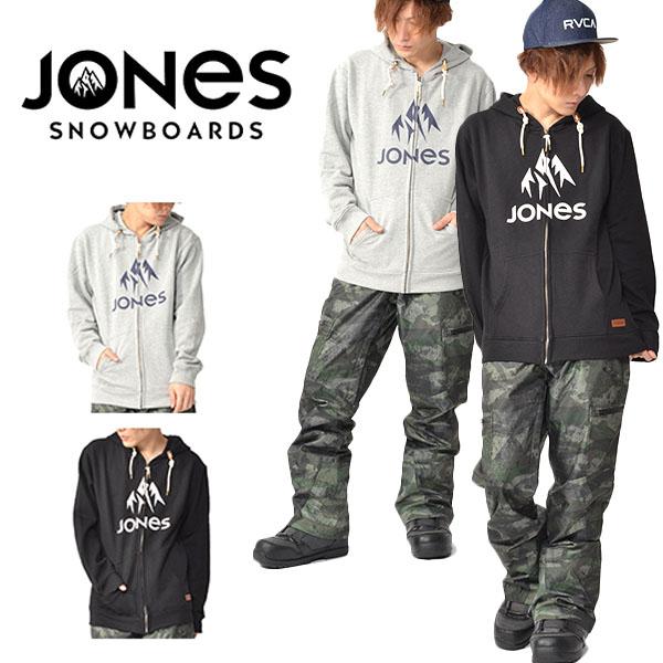 送料無料 ジップアップ パーカー JONES ジョーンズ メンズ TRUCKEE HOODY ZIP スノー パーカー フーディ フリース ロゴ インナー ギア スノボ 日本正規品 得割20