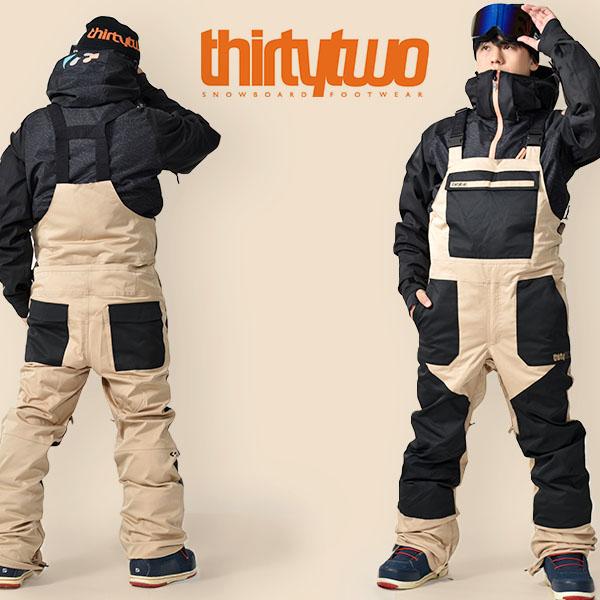 送料無料 スノーボードウェア ThirtyTwo 32 サーティー トゥー BASEMENT BIB PANTS メンズ ビブパンツ スノボ スノーボード ボトムス メンズ サーティーツー 得割20