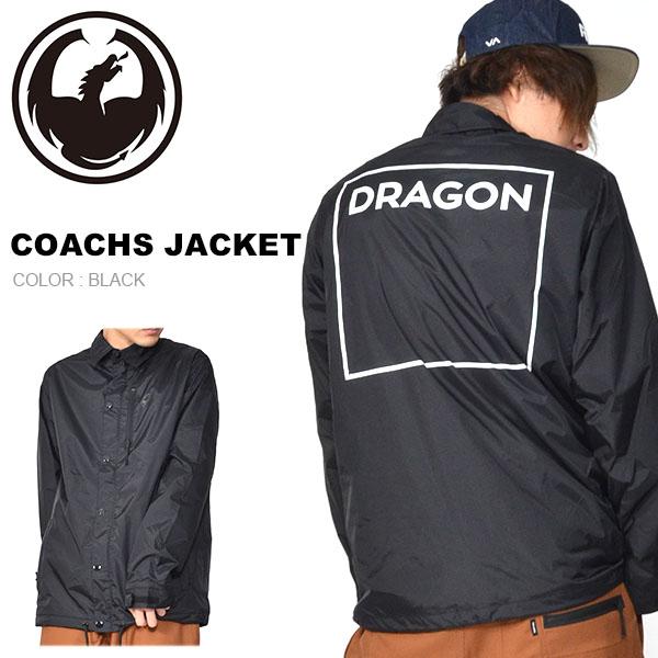 送料無料 コーチジャケット DRAGON ドラゴン COACHS JACKET ナイロンジャケット 防水 ジャケット アウター スノボ スノーボード 20%off