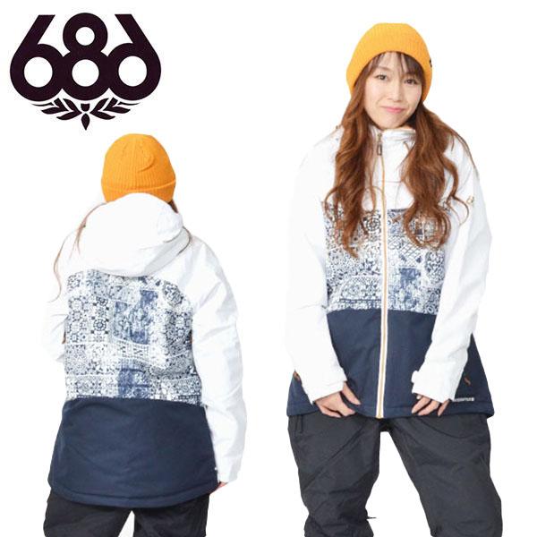 送料無料 スノーボードウェア 686 SIX EIGHT SIX シックスエイトシックス Athena Insulated Jacket レディース ジャケット スノボ スノーボード スノーウェア 18/19 得割20