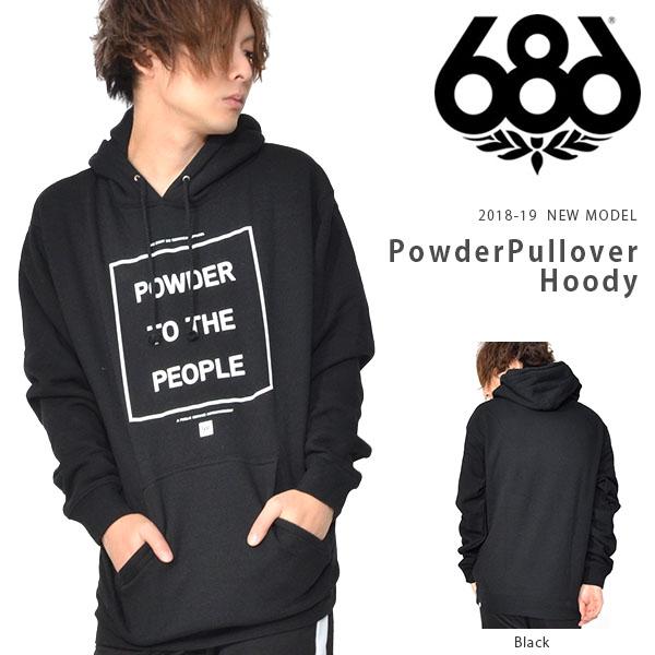 送料無料 パーカー 686 SIX EIGHT SIX シックスエイトシックス Powder Pullover Hoody メンズ プルオーバー パーカー スノボ スノーボード 18/19 得割20