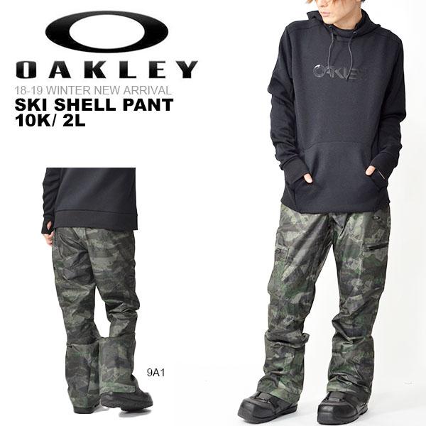 得割30 送料無料 スキーパンツ OAKLEY オークリー SKI SHELL PANT 10K/ 2L メンズ スノーパンツ スノーボード スノボ スキー SKI SNOWBOARD 日本正規品 18/19