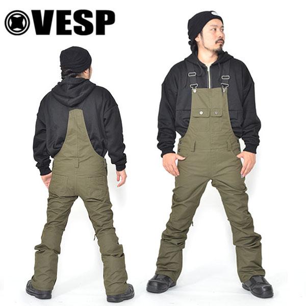 送料無料 スノーボードウェア VESP ベスプ BIB TIGHT PANTS vpmp18-10 ビブパンツ スノボ スノーボード ボトムス メンズ 18/19 20%off