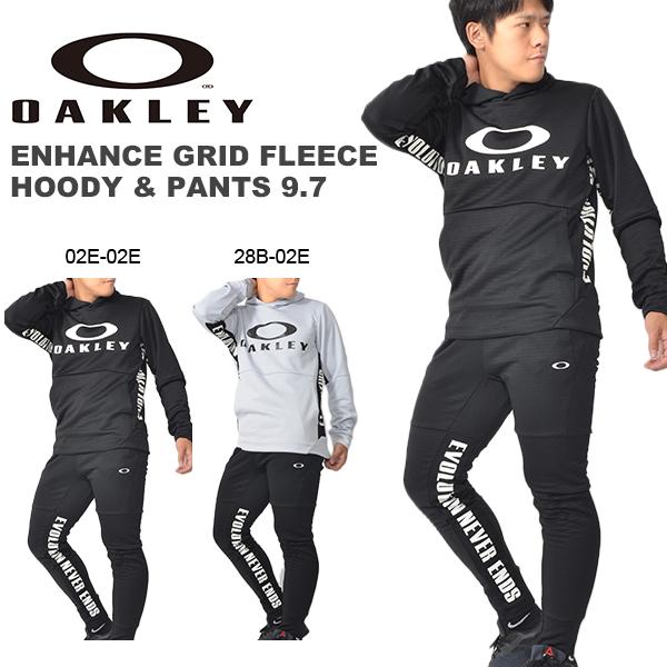 送料無料 上下セット OAKLEY オークリー メンズ フリース ジャケット パーカー プルオーバー ロング パンツ 上下組 吸汗速乾 UPF50+ スポーツ トレーニング ランニング ウェア 日本正規品 得割30
