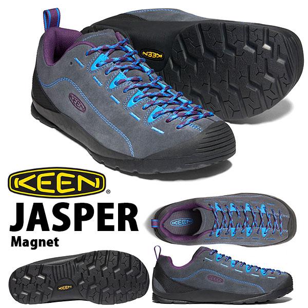 送料無料 スニーカー KEEN キーン メンズ JASPER ジャスパー 替え紐つき クライミング アウトドア ハイキング フェス シューズ 靴 2020春夏新作 Magnet 1022642 グレー