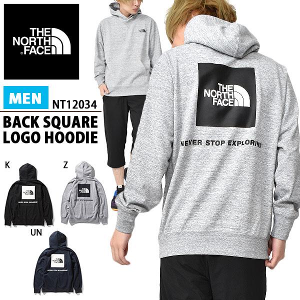 お1人様1着限り 送料無料 バックロゴ スウェット パーカー ザ・ノースフェイス THE NORTH FACE Back Square Logo Hoodie バックスクエアロゴ フーディー メンズ プルオーバーパーカー 2020春夏新作 nt12034 ザ ノースフェイス