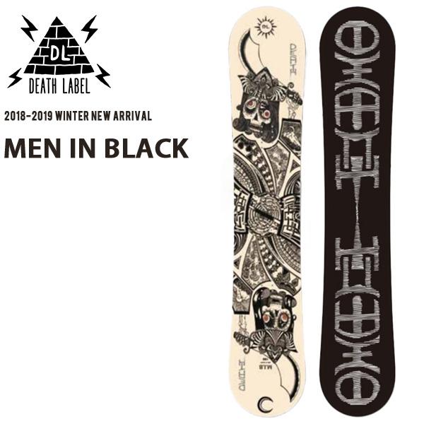 送料無料 スノー ボード 板 DEATH LABEL デスレーベル MEN IN BLACK メンズ スノーボード スノボ 紳士用 155 18/19 30%off