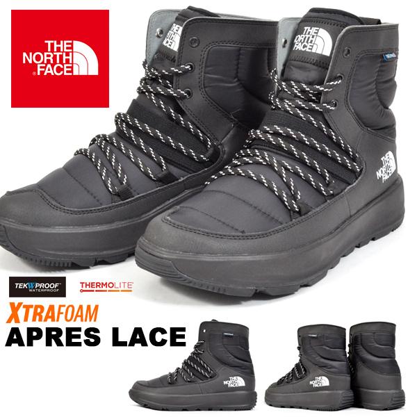 送料無料 ブーツ ザ・ノースフェイス THE NORTH FACE Apres Lace アプレ レース メンズ レディース シューレース アウトドア スノー シューズ スノトレ 靴 nf51881 ザ ノースフェイス 防水