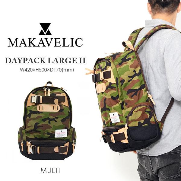 送料無料 バックパック マキャベリック MAKAVELIC DAYPACK LARGE II デイパック ラージ リュックサック リュック メンズ レディース スポーツ カジュアル バッグ カバン かばん 鞄 バッグ BAG 40%off