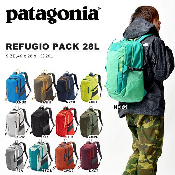 背包patagonia巴他戈尼亚Refugio Pack refuyujiopakku 28L帆布背包包日包户外通勤上学人分歧D正规代理店品47911
