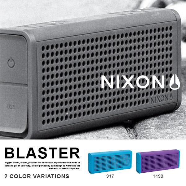 ブルートゥース スピーカー NIXON ニクソン BLASTER ポータブル ワイヤレス Bluetooth スマートフォン スマホ 正規品 送料無料