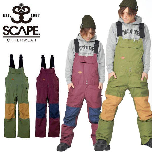 30%off 送料無料 スノーボードウェア SCAPE エスケープ OVERALL PANTS メンズ パンツ オーバーオール ビブ スノボ スノーボード スノーウェア ボトムス